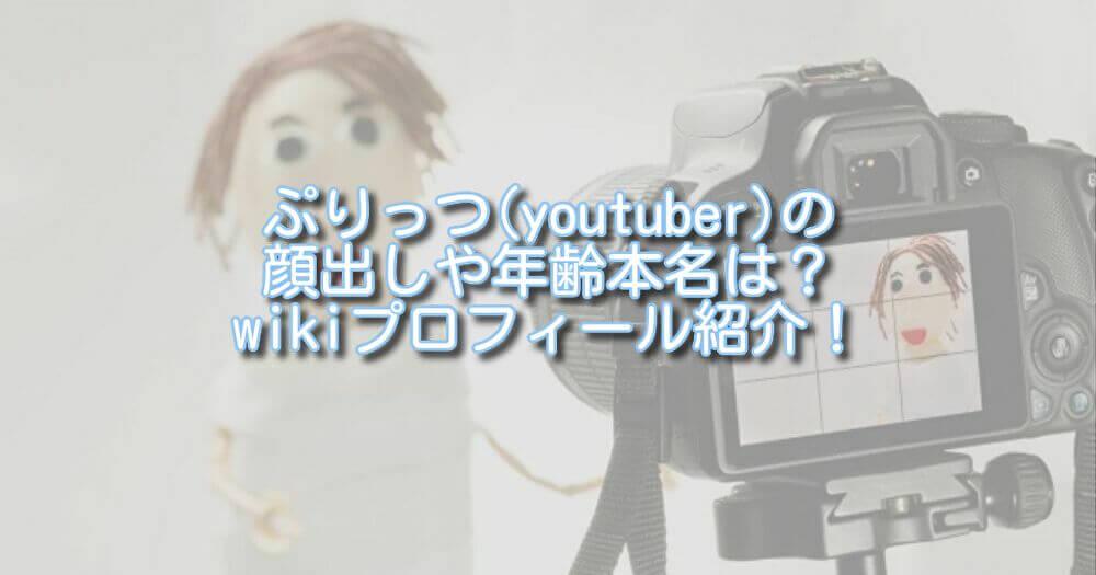 ぷりっつ(youtuber)の顔出しや年齢本名は?wikiプロフィール紹介!
