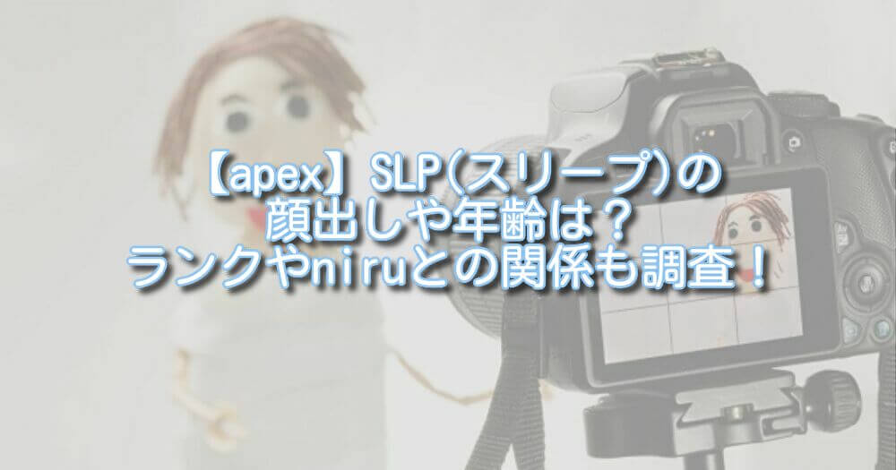 【apex】SLP(スリープ)の顔出しや年齢は?ランクやniruとの関係も調査!